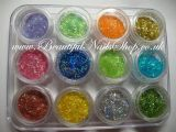 12 colour set of Glitter Lace